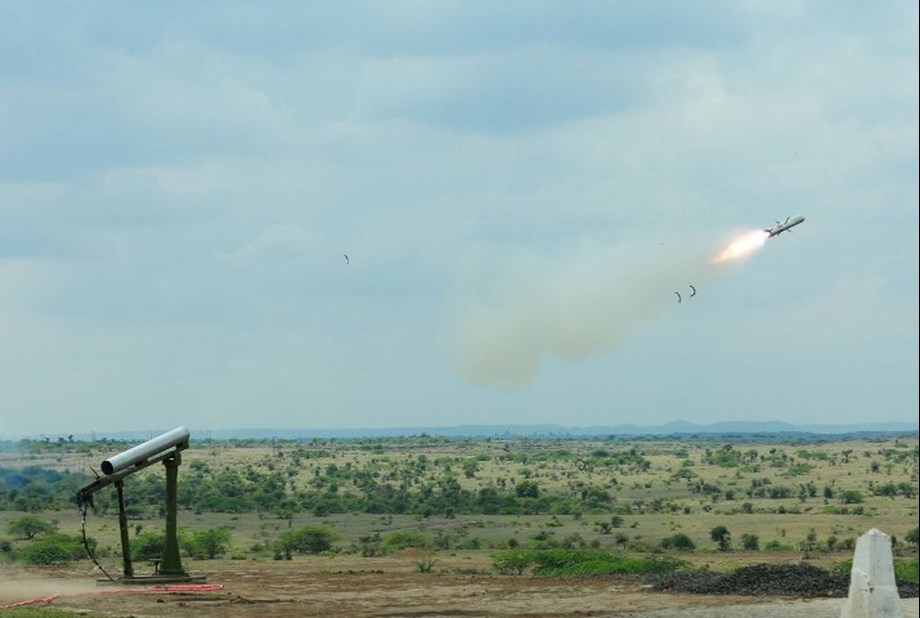 DRDO successfully test-fires Anti-tank guided missile