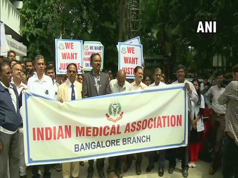 WB docs' stir: IMA launches protest, writes to Shah for central law against hospital violence