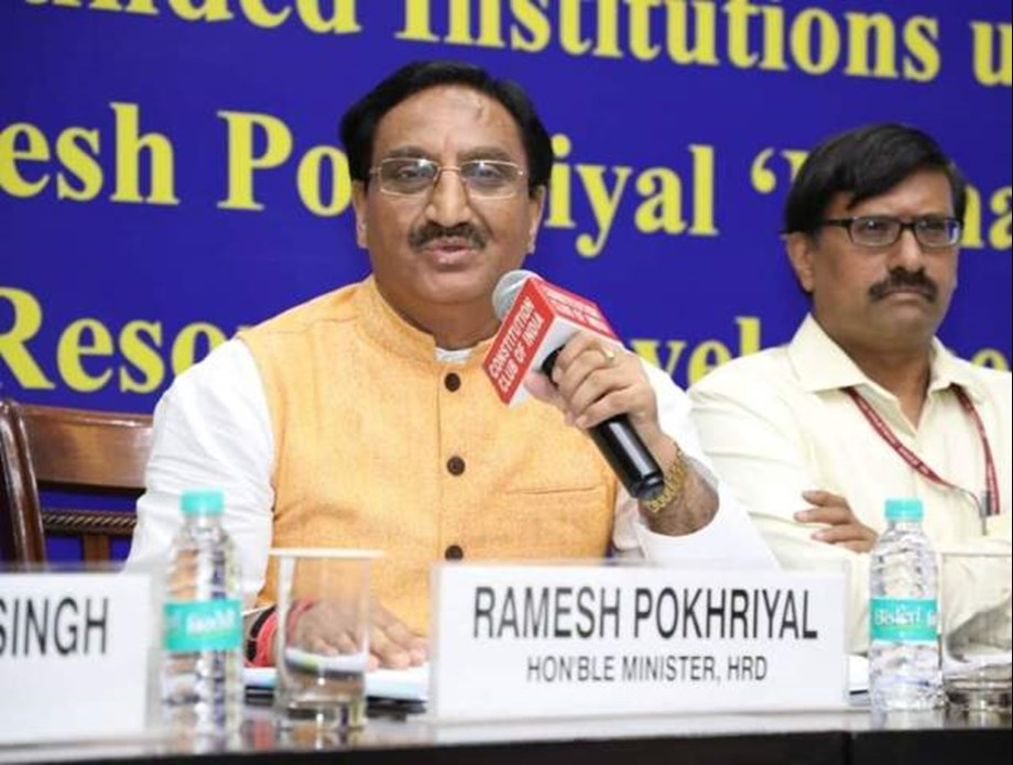 HRD minister congratulates JEE-Advanced toppers