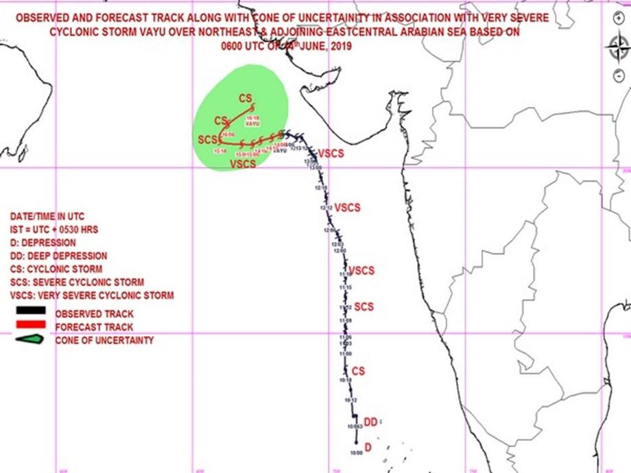 Cyclone Vayu moving westwards affecting Porbandar, Dwarka: IMD