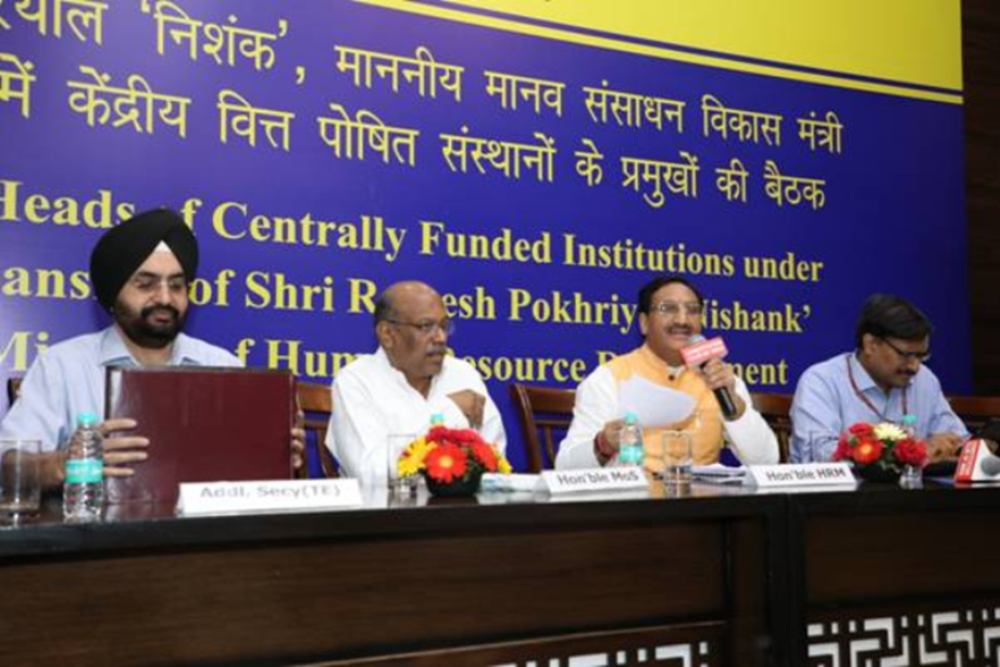 Pokhriyal directs IIT and IIIT directors to make yearly plans