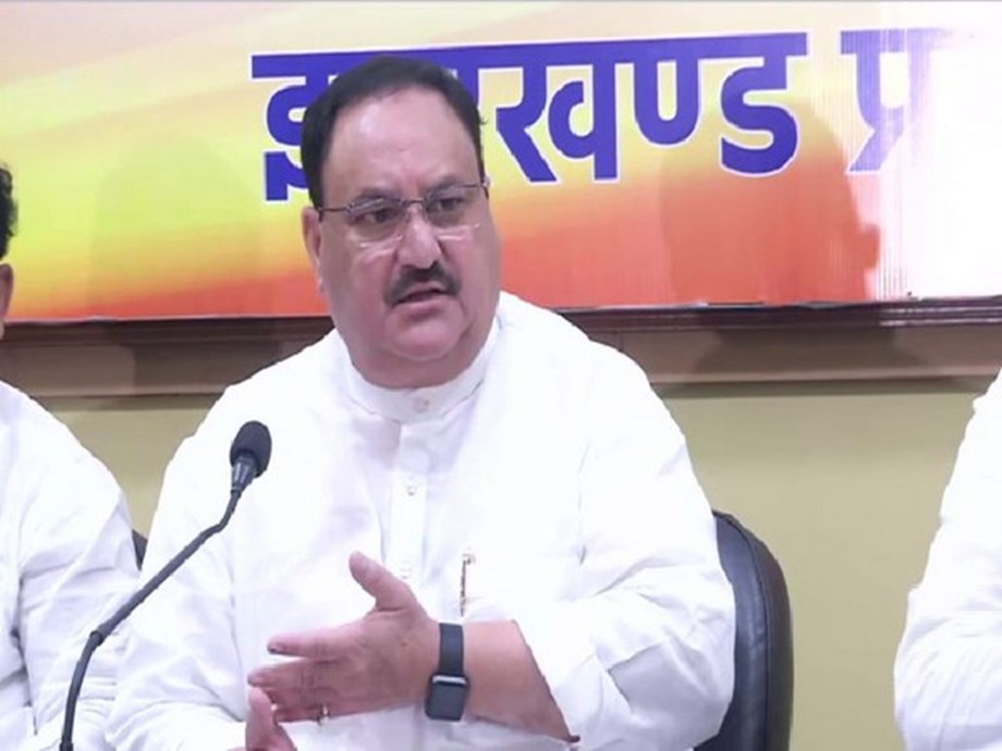 Ranchi: JP Nadda attends BJP membership drive program, holds meeting with core committee members