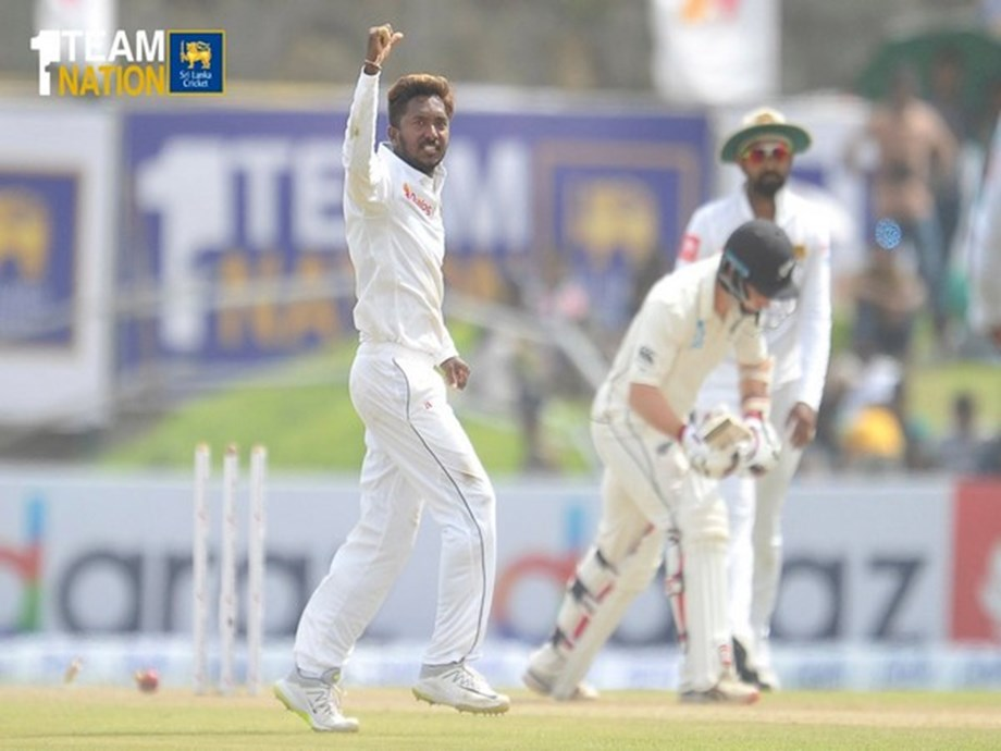 SL-NZ Test: Akila Dananjaya takes fifer, leaves New Zealand at 203/5