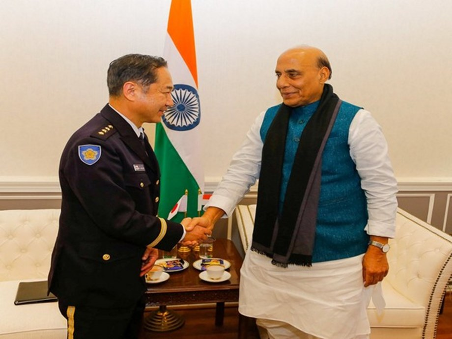 Chief of Staff, Joint Staff of Japan meets Rajnath Singh in New Delhi