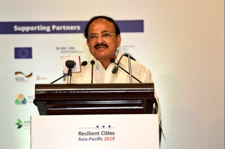 VP Naidu says governments in Asia must build climate resilient habitats