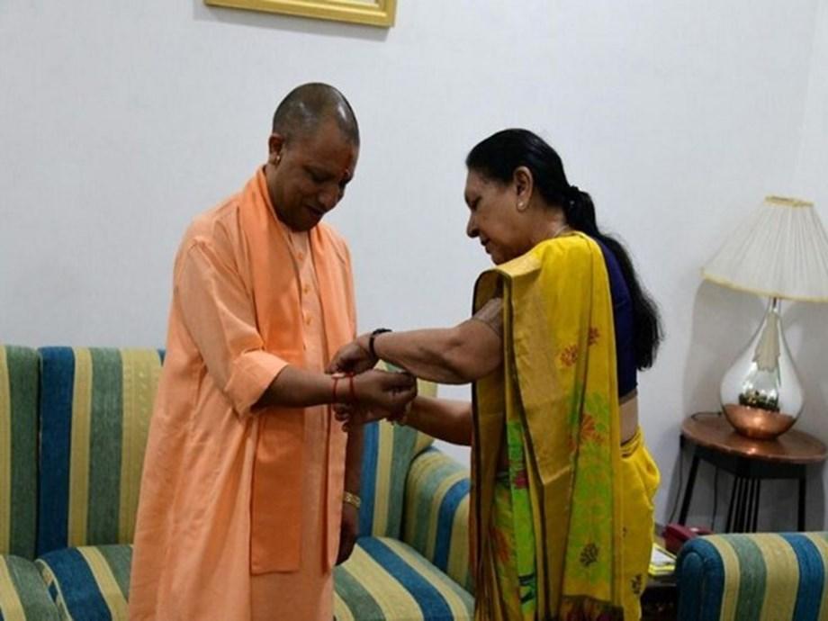 UP: Governor Anandiben Patel ties rakhi to Yogi Adityanath
