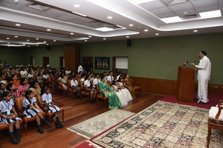 Making girls equal partners in nation-building must be focus: VP Naidu