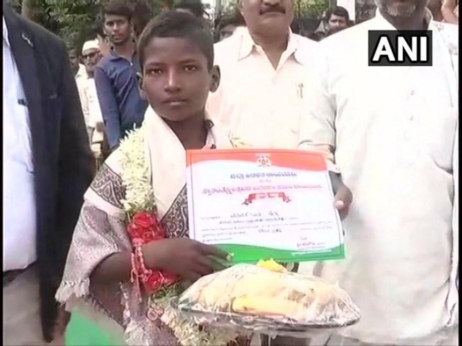 Karnataka: 12-year-old felicitated for guiding ambulance out of flooded bridge