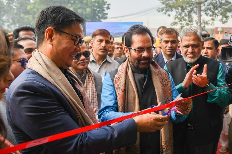 Naqvi inaugurates 'Hunar Haat' at Trade Fair in Delhi