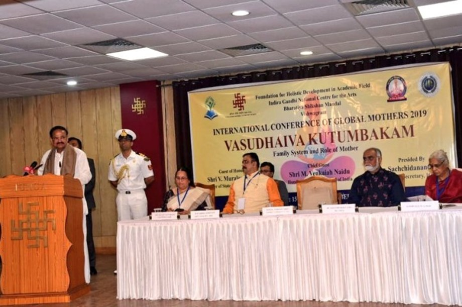 Strong family system can be best solution to overcome social evils: VP Naidu