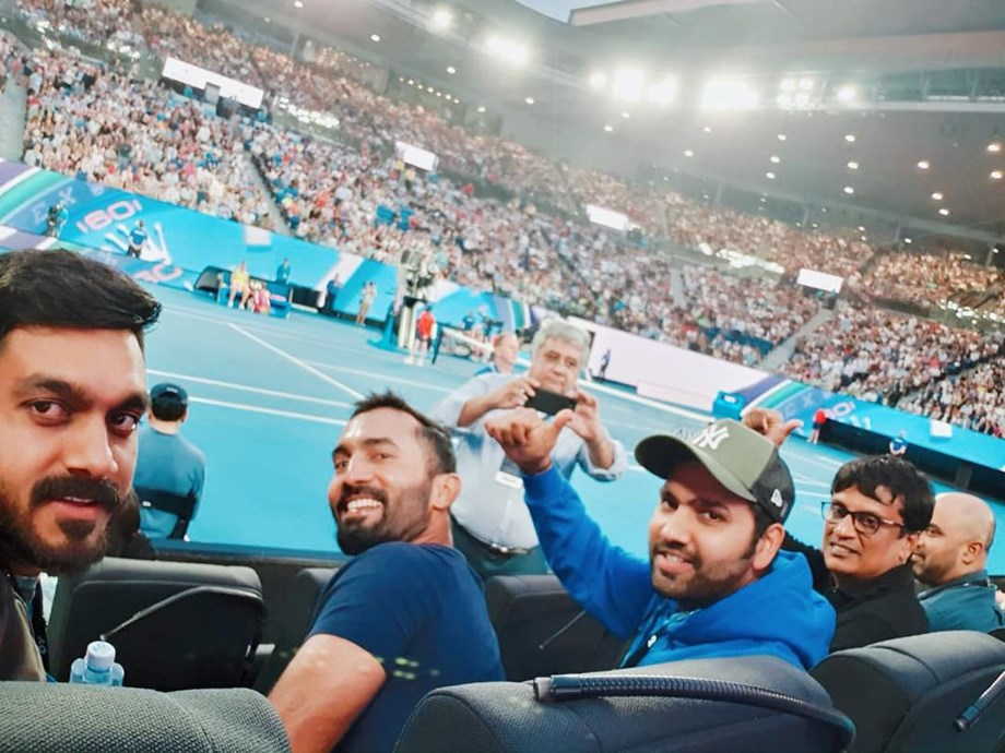 Australian Open 2019: Rohit Sharma, Dinesh Karthik enjoys tennis after Adelaide ODI