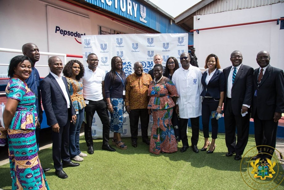 President inaugurates 3 manufacturing plants of Unilever Ghana