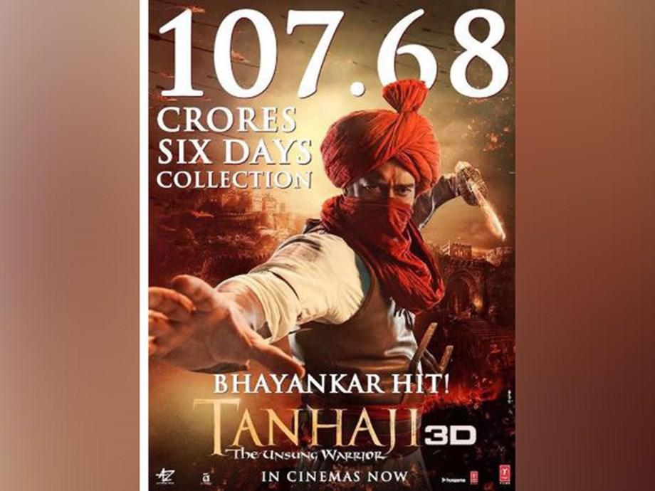 'Tanhaji: The Unsung Warrior' enters Rs 100 crore club in one week