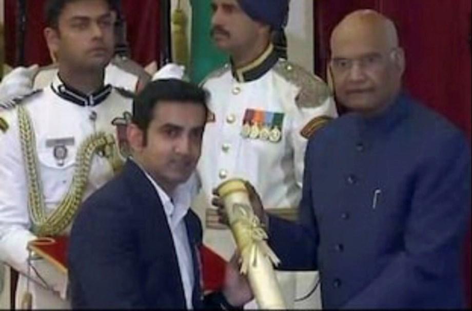 Gautam Gambhir, four other sports personalities receive Padma Awards