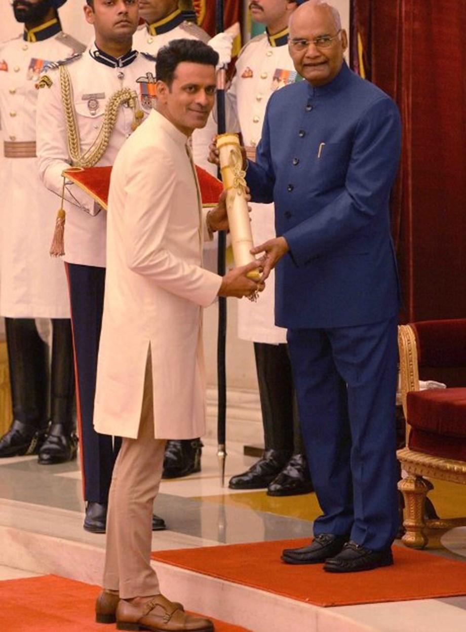 Manoj Bajpayee, noted musician Swapan Chaudhuri receive Padma awards