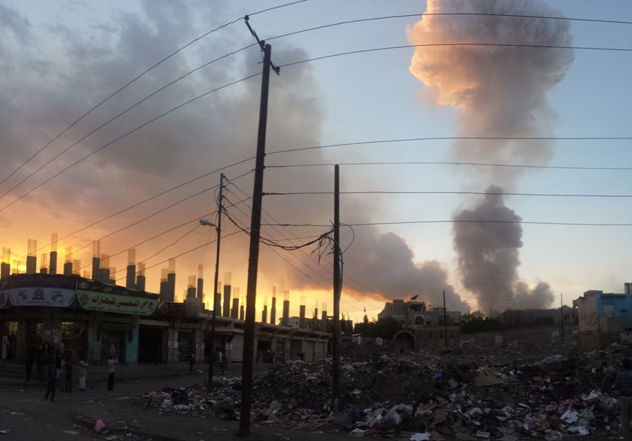 Saudi-led coalition bombed Houthi held hideouts in Sanaa, many dead