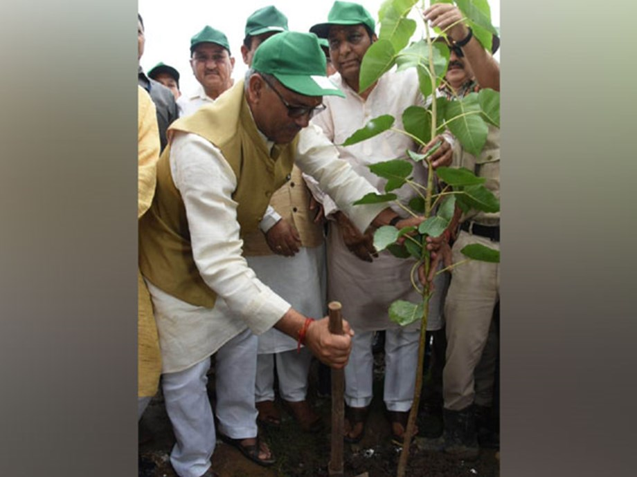 U'khand CM plants trees on Harela festival, asks people to pay attention on environment conservation