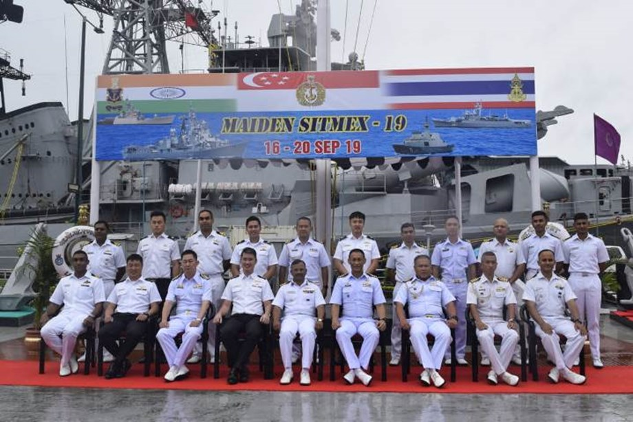 Maiden exercise with Singapore, Royal Thailand, Indian Navy commences