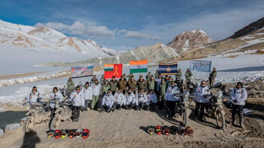 Lt Gen YK Joshi, Fire and Fury Corps reach Karakoram Pass to motivate riders