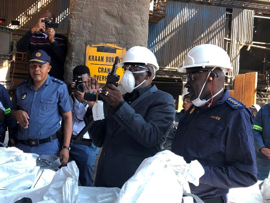 Police Minister oversees destruction of 30 039 firearms at Arcelor Mittal's plant