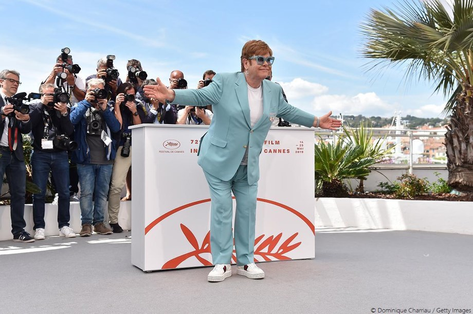 Elton John makes his way to Cannes for 'Rocketman'