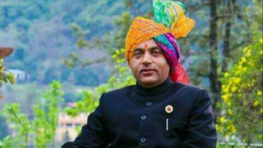 Thakur lays foundation stone for cable bridge in Mandi