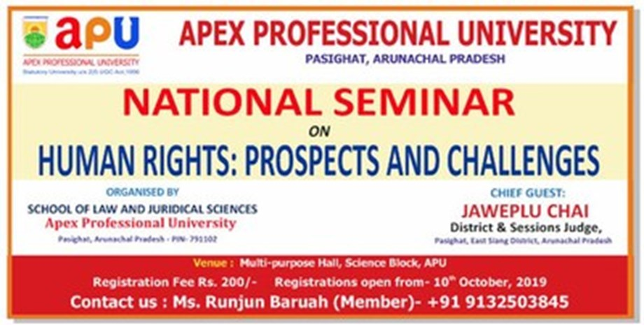 Apex Professional University (APU) Conducts The National Seminar on The Human Rights Prospects and Challenges