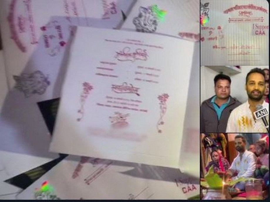 MP couple prints support for CAA, NRC on their wedding invite