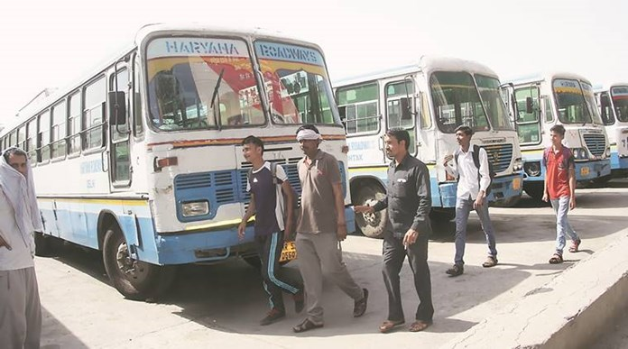 Haryana: Roadways strike completes 15 days, Govt orders salary cut