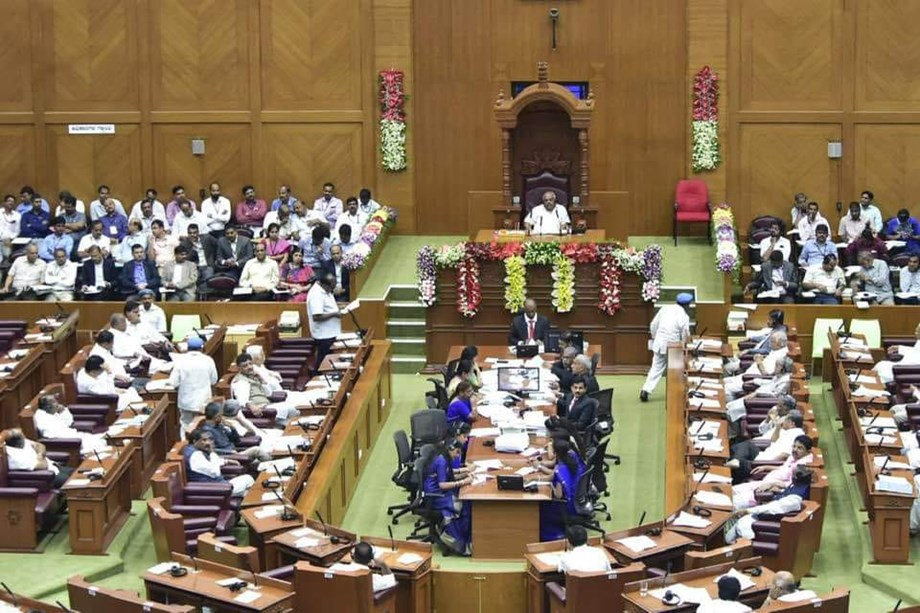 BJP stages protest in Karnataka assembly on farm loan waiver
