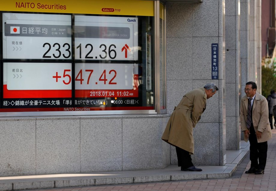 Asian stocks edge up on strong Wall Street performance