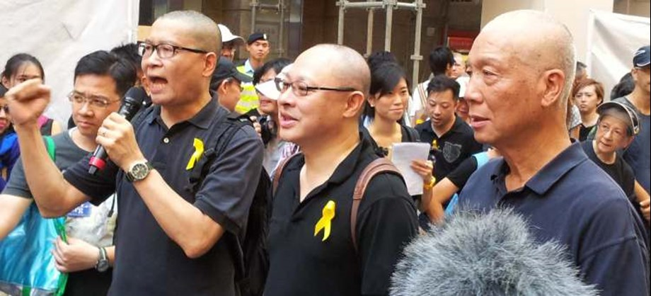 """Nine charged for involvement in """"Occupy Central"""" demonstration undergo trial"""