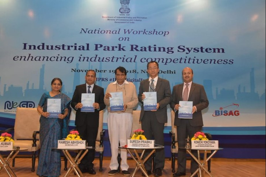 Union Minister Suresh Prabhu releases report on Industrial Park Rating System