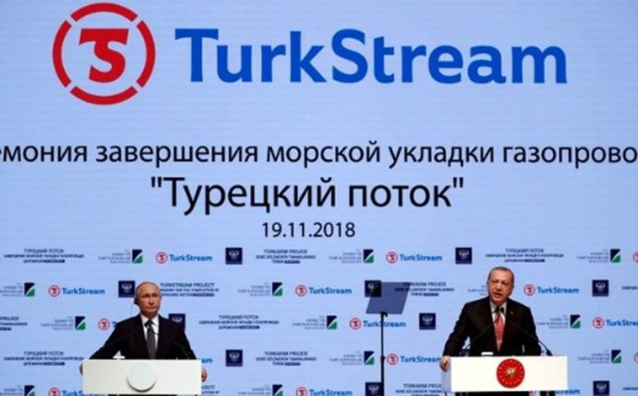 UPDATE 1-TurkStream construction partially completed, says Gazprom