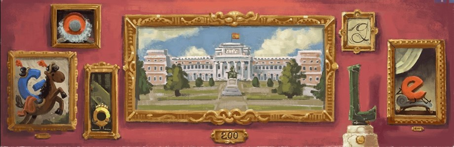 Google celebrates 200th anniversary of Museo del Prado with stunning doodle