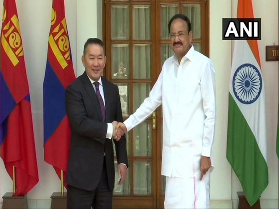 Mongolian Pres meets VP Naidu