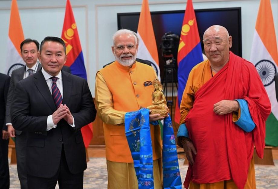 Buddha statue unveiled by PM Modi, Mongolian President symbolizes shared respect
