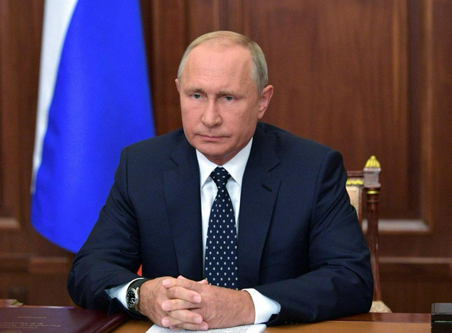"Putin expresses ""serious concern"" over Ukraine's move to impose martial law"