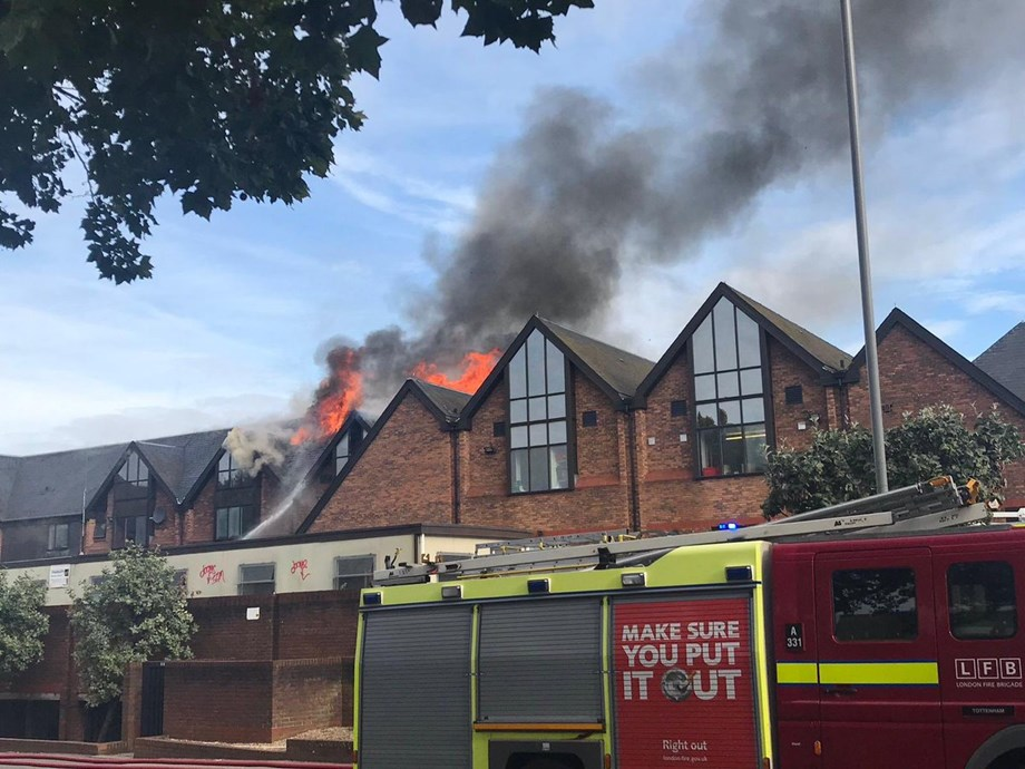 [Watch] Huge Blaze At The Mall Shopping Centre in Walthamstow, East London