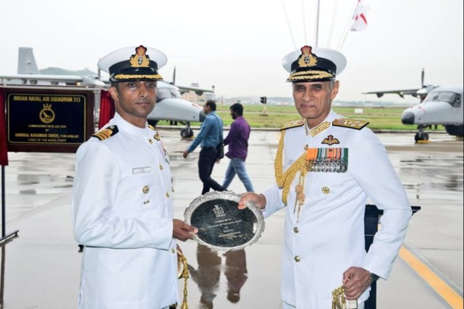 Dornier squadron INAS 313 commissioned into Indian Navy by Adm Karambir Singh