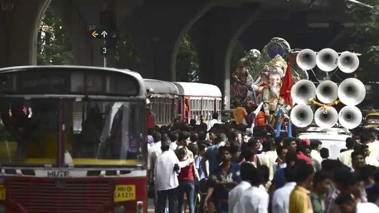 Over 70 noise pollution norms violation cases registered at Ganpati immersion