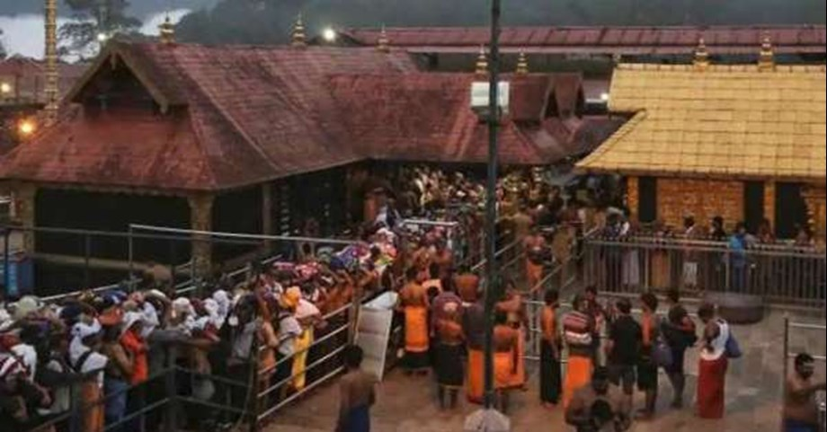 Fresh protest in Sabarimala temple against police restrictions