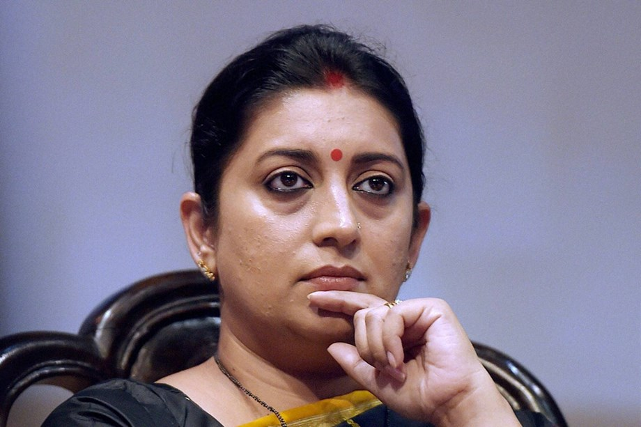 Congress party dedicated to one family: Smriti Irani