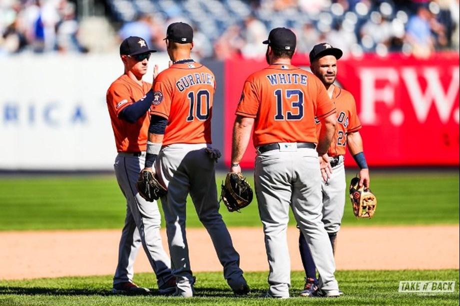 Altuve's 4 hits help carry Astros past Rangers in 11