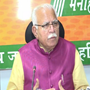 Haryana CM Manohar Lal Khattar leading by 4588 votes after first round of counting