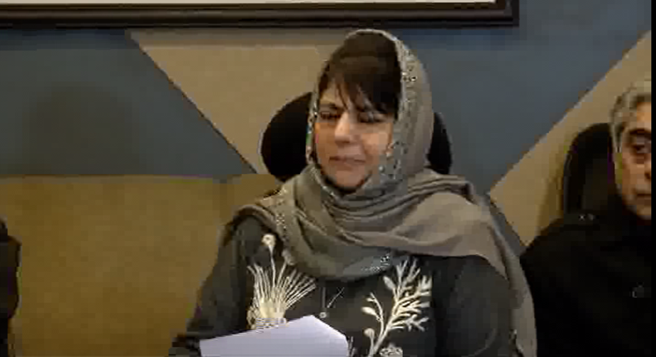 People have begun rethinking over state's accession to India: Mehbooba