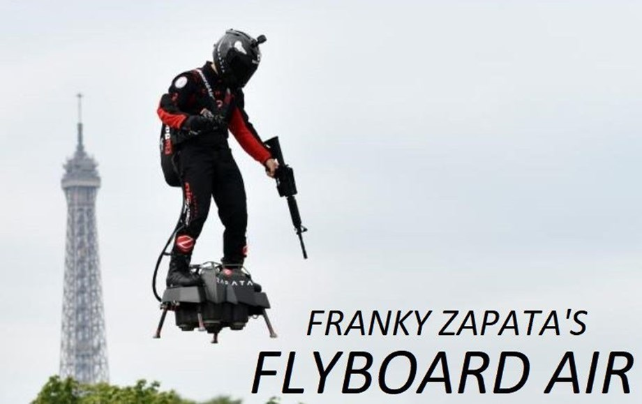 Frenchman succeeds in bid to cross English Channel on a jet-powered hoverboard