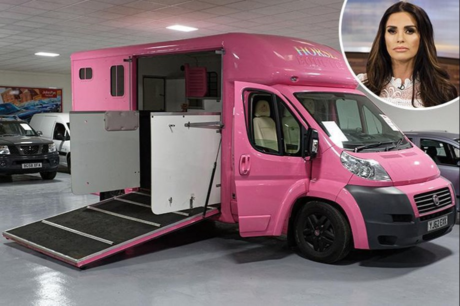 Katie Price's bright pink horsebox in auction amid bankruptcy woes