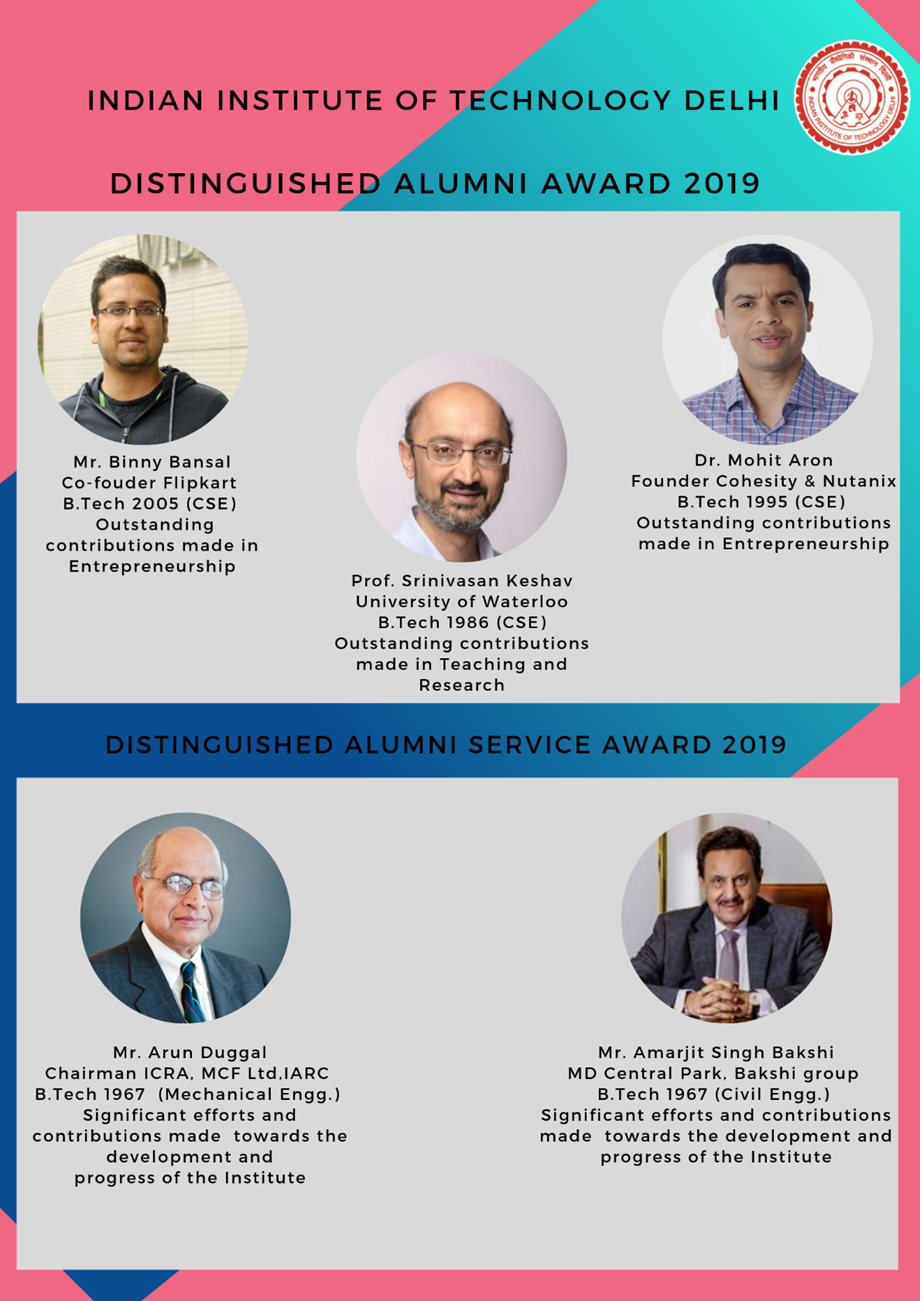IIT Delhi announces winners of the Alumni Awards 2019