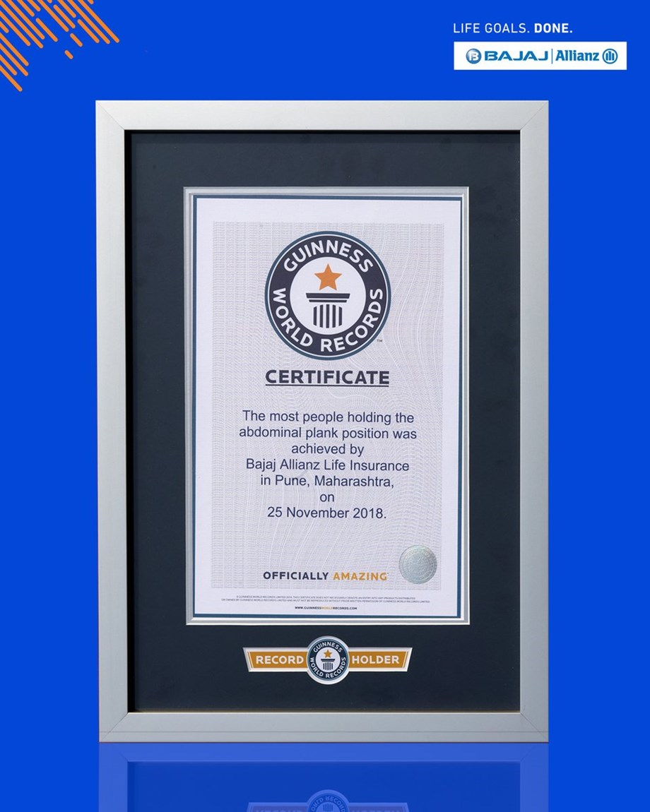 2,353 people held plank position in Pune, enters in Guinness World Records